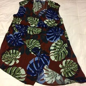 Eloquii 24W Monstera Leaf Dress